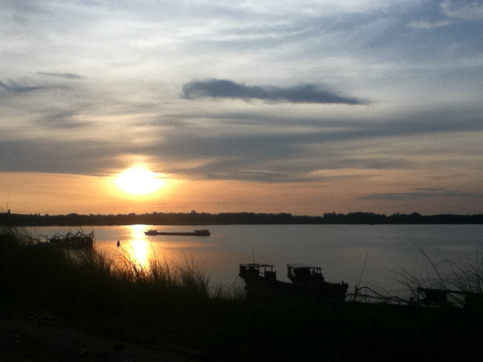 Kompong Cham Koh Paen Mekong sunrise 2